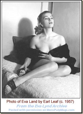 Eva Lynd, photo by Earl Leaf c. 1957 WM