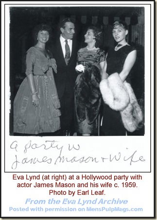Actor James Mason & wife & Eva Lynd (r) 1959