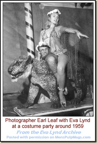 Earl Leaf & Eva Lynd at costume party, c. 1959