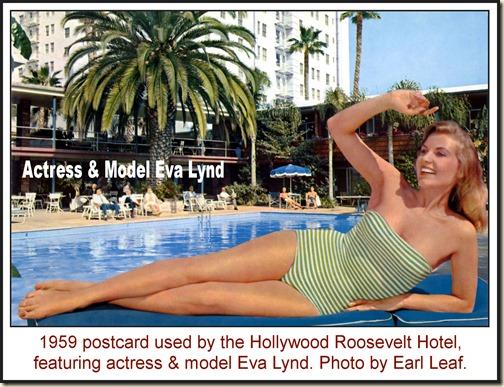 Eva Lynd - Hollywood Roosevelt Hotel (1959) - front WM2
